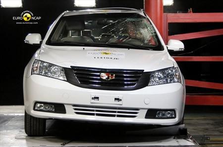 吉利帝豪EC7在侧面碰撞测试中-帝豪EC7 MG6获四星 最新E NCAP成高清图片
